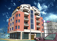 Residential and Commercial Building with Underground Parking